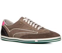 Herren Schuhe Sneaker Veloursleder taupe braun,grau