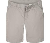 Herren Hose Shorts Regular Fit Baumwolle taupe