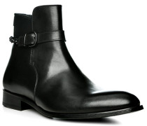 Herren Schuhe Steifelette, Kalbleder, schwarz