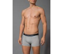 Herren Unterwäsche Trunk, Baumwoll-Stretch, grau meliert