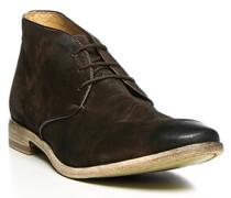 Herren Schuhe Desert Boots Veloursleder dunkelbraun braun,beige