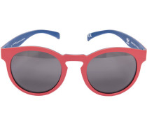 Herren Brillen adidas, Sonnenbrille, Kunststoff, rot-marine