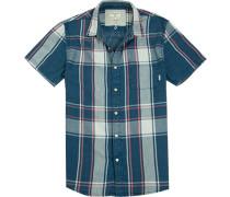 Herren Hemd Modern Fit Oxford blau-pink kariert