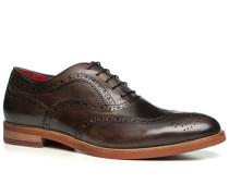 Herren Schuhe Oxford, Leder, testa di moro braun