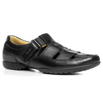 Herren Schuhe Sandalen, Kalbleder, schwarz braun
