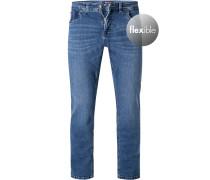 Jeans Modern Fit Baumwoll-Stretch mittel