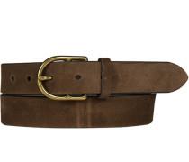 Herren Gürtel dunkelbraun, Breite ca. 3 cm