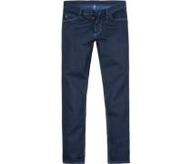 Herren Jeans Regular Fit Baumwolle indigo