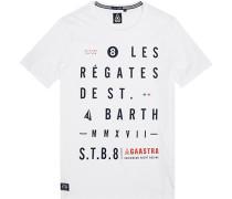 Herren T-Shirt, Baumwolle, weiß