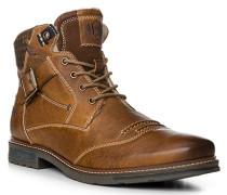 Herren Schuhe Boots, Leder warmgefüttert, hellbraun