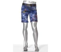 Herren Jeans Bermudas Pipe-K, Regular Slim Fit, Pima Cotton-Stretch, multicolor