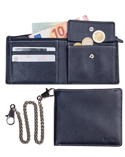 Geldbörse, Rindleder, navy