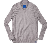 Herren Pullover Wolle grau
