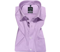 Herren Hemd, Modern Fit, Chambray, flieder lila
