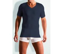 Herren T-Shirt Baumwoll-Stretch marine