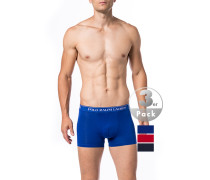 Herren Unterwäsche Trunks, Baumwolle, rot-navy-blau