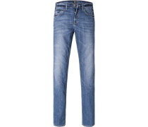 Herren Jeans Regular Fit Baumwoll-Stretch