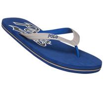 Herren Schuhe Zehensandalen, Gummi, blau-grau