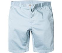 Herren Hose Bermudashorts Modern Fit Baumwolle eisblau