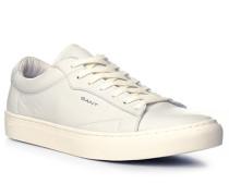 Herren Schuhe Sneaker, Leder, off-white weiß