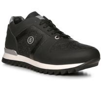 Herren Schuhe Sneaker, Kalbleder-Loden, schwarz-anthrazit