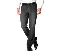 Herren Jeans Contemporary Fit Baumwoll-Stretch schwarz