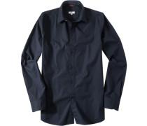 Herren Hemd, Regular Fit, Popeline, navy blau