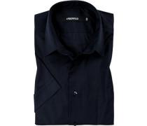 Herren Hemd, Baumwolle, nachtblau
