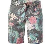 Herren Hose Shorts, Baumwolle, multicolor gemustert