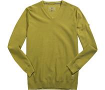 Herren Pullover Baumwolle limone grün