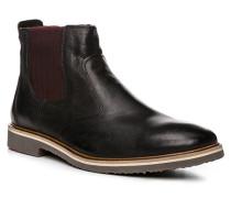 Herren Schuhe Chelsea-Boots Glattleder schwarz schwarz,braun