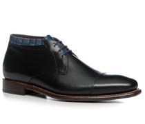 Herren Schuhe Schnürstiefelette Kalbleder schwarz