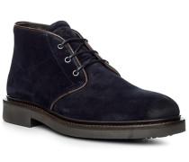Herren Schuhe Desert-Boots, Veloursleder, navy blau