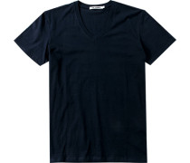 Herren T-Shirt Regular Fit Baumwolle navy blau