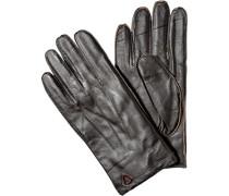 Herren Handschuhe, Schafleder, dunkelbraun