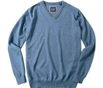 Herren Pullover Baumwolle himmelblau