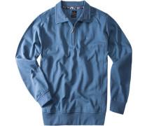 Herren Sweat-Troyer Baumwolle jeansblau