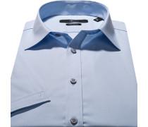 Herren Hemd, Stretch-Popeline, hellblau