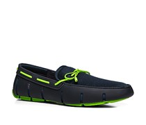 Herren Schuhe Loafers Mesh-Kautschuk-Mix navy blau,blau