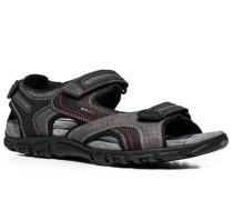 Herren Schuhe Sandalen Material-Mix grau-schwarz grau,beige