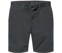 Herren Hose Shorts Straight Fit Baumwoll-Stretch dunkel