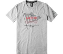 Herren T-Shirt, Baumwolle, grau gemustert