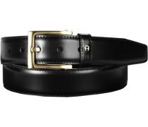 Herren Gürtel schwarz, Breite ca. 3,5 cm