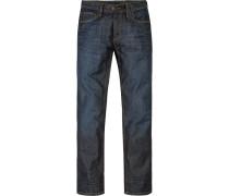 Herren Jeans Regular Fit Baumwolle indigo blau