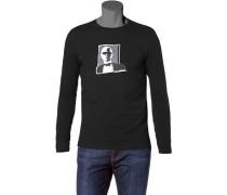 Herren T-Shirt Longsleeve Baumwoll-Stretch