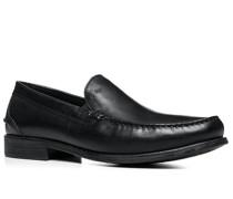Herren Schuhe Loafers Leder schwarz