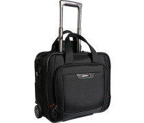 Herren Business Trolley Microfaser schwarz