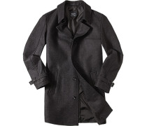 Herren Mantel Wolle anthrazit meliert grau,schwarz