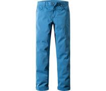 Herren Jeans, Regular Fit, Baumwoll-Stretch, mittelblau
