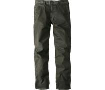 Herren Jeans Berlin Regular Fit, Flatfront Baumwolle-Elasthan dunkelgrün